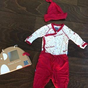 KicKee Pants Flying Santa Christmas Pajamas